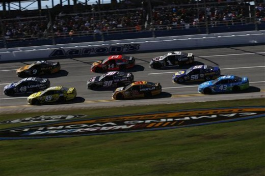 Racing at Dega
