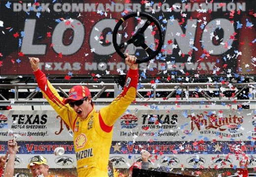 Logano wins Texas