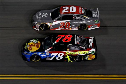 during the Monster Energy NASCAR Cup Series Coke Zero Sugar 400 at Daytona International Speedway on July 7, 2018 in Daytona Beach, Florida.