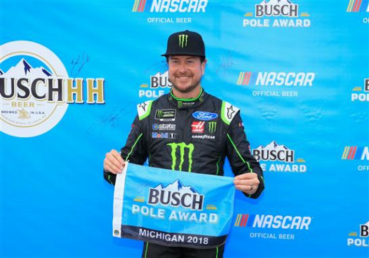 during qualifying for the Monster Energy NASCAR Cup Series Firekeepers Casino 400 at Michigan International Speedway on June 8, 2018 in Brooklyn, Michigan.