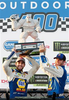 during the Monster Energy NASCAR Cup Series Gander Outdoors 400 at Dover International Speedway on October 7, 2018 in Dover, Delaware.