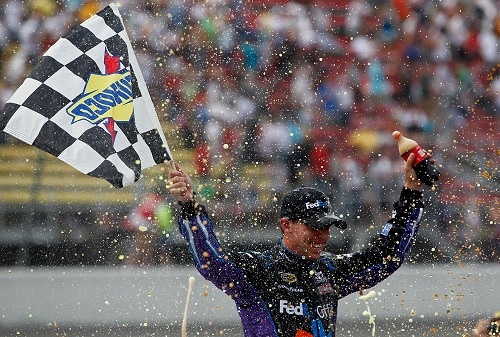 DENNY HAMLIN FINALLY FINDS VICTORY LANE IN 2011