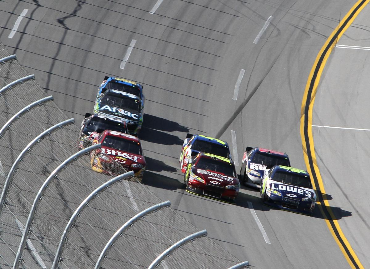 JOHNSON-EARNHARDT TANDEM PUSHES TO WIN