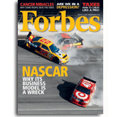 Forbes Magazine Takes on NASCAR