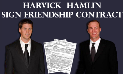 HARVICK, HAMLIN SIGN FRIENDSHIP CONTRACT