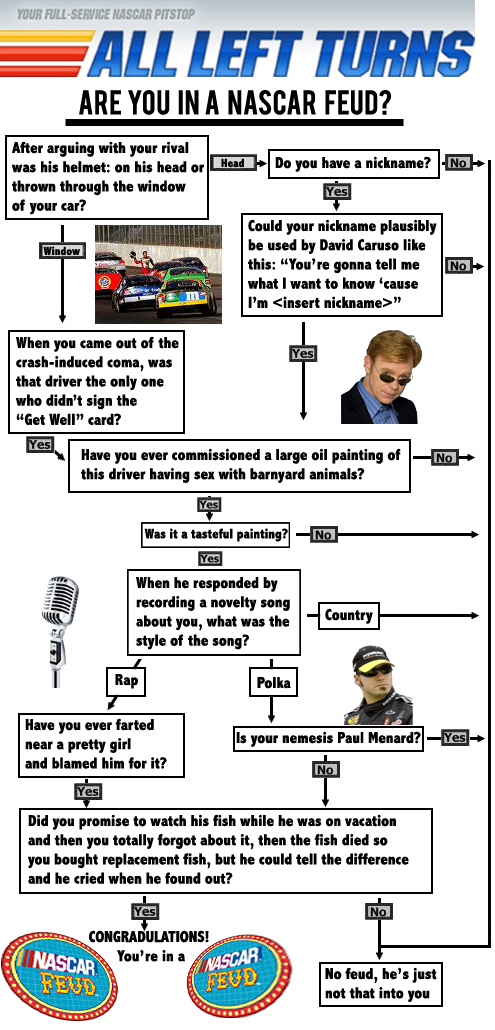 ARE YOU IN A NASCAR FEUD?