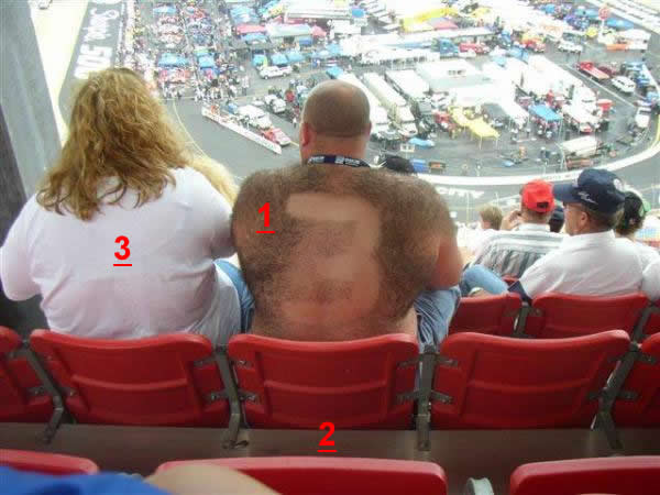 SHAVED-BACK NASCAR GUY UPDATE