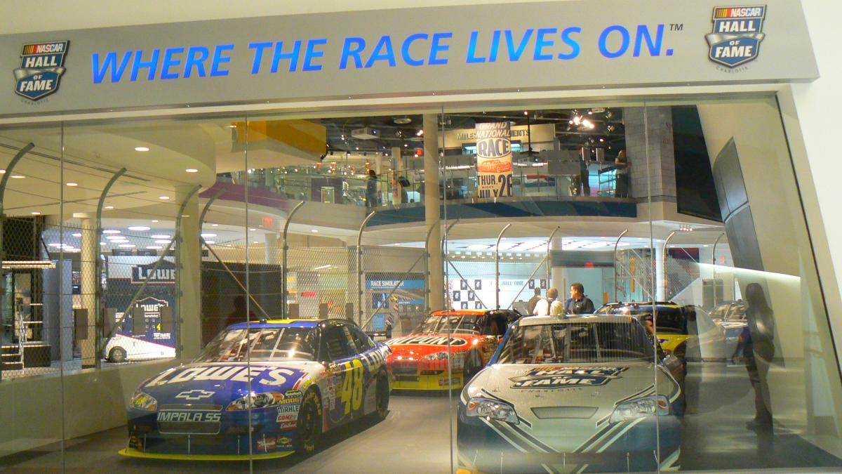 A SNEAK PEEK AT THE NASCAR HALL OF FAME