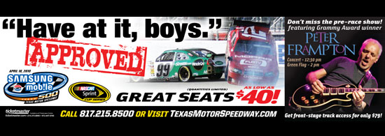 TEXAS MOTOR SPEEDWAY HAS AT IT