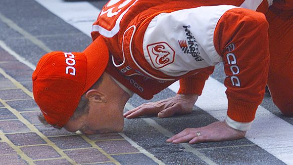 KISSING THE BRICKS: NASCAR'S BEST TRADITION?