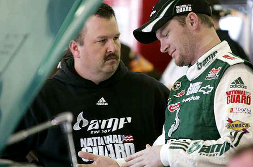 JUNIOR'S CREW CHIEF FIRED