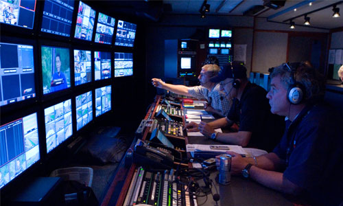 A BEHIND-THE-SCENES LOOK AT ESPN'S LIVE NASCAR COVERAGE