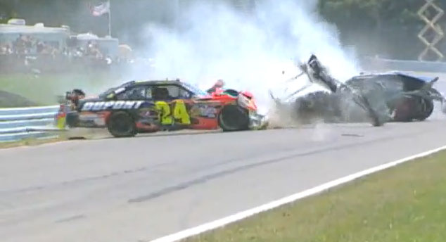 SAM HORNISH JR. WATKINS GLEN CRASH