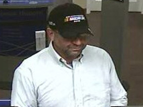 MAN IN NASCAR HAT ATTEMPTS TO ROB BANK