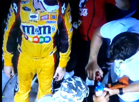 KYLE BUSCH NOS BOTTLE MYSTERY SOLVED