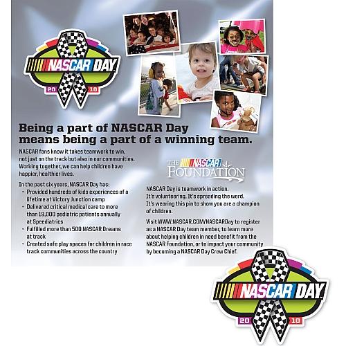 FREE NASCAR DAY PIN