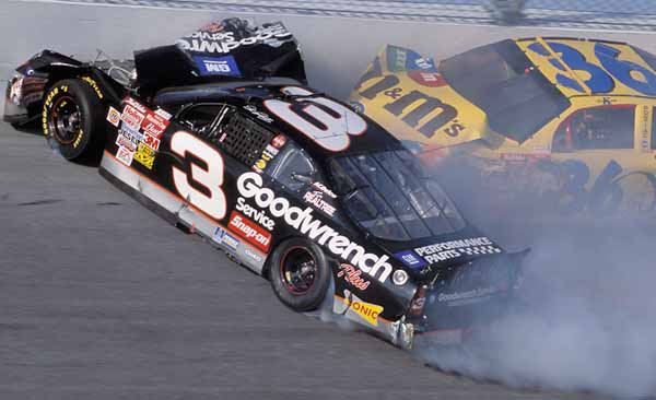 Image result for dale earnhardt sr crash in 2001